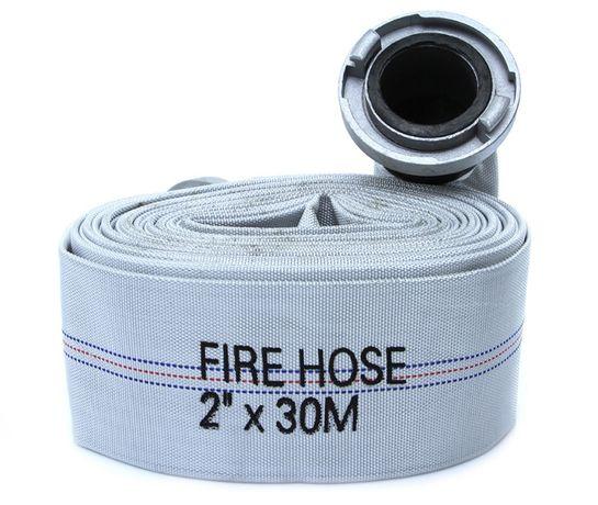 """Wąż strażacki 2"""" 30m gumowany szybkozłączki 52 mm 2 cale guma"""