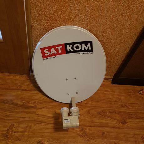 Sprzedam talerz satelitarny z podwójnym Konwerterem