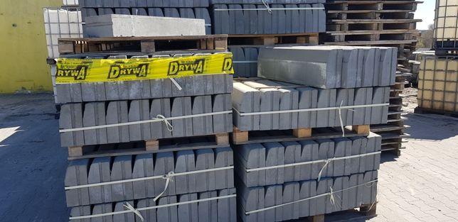 Krawężniki betonowe, obrzeża, stopnie skarpowe betonowe