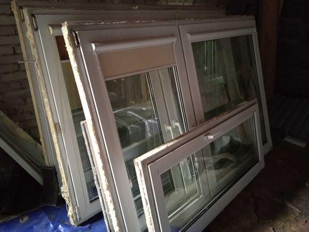 Okno PCV białe z demontażu 206 cm szer / 143 cm wys
