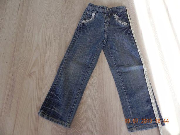 spodnie dżinsowe 116 z lajkrą