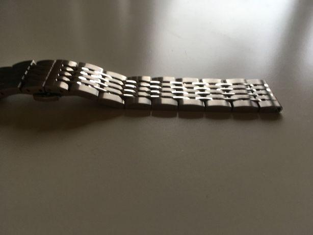 Bransoleta do zegarka 18mm, srebrna, nowa