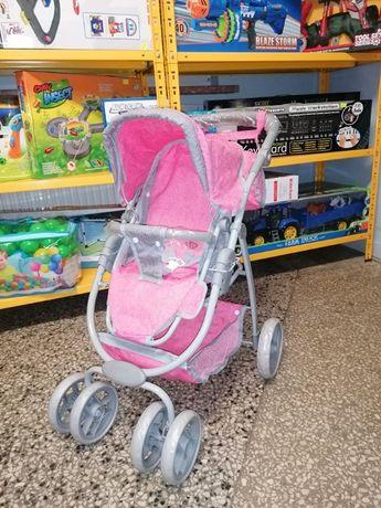 Wózek dla Lalki 2 w 1 Rózowy z szarym