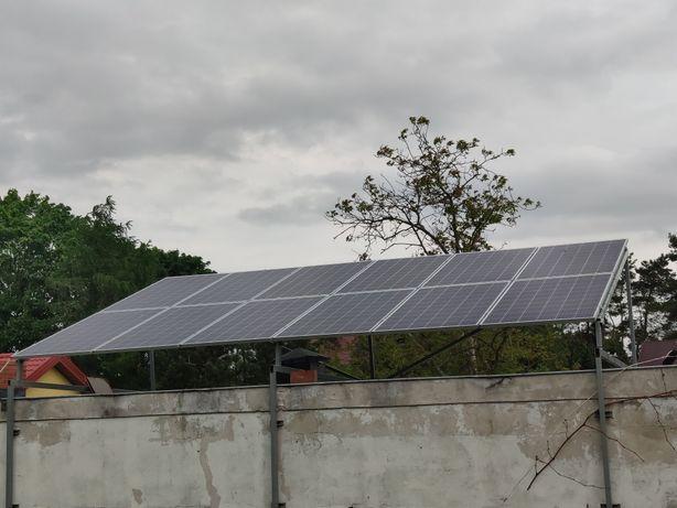 Konstrukcja montażowa paneli fotowoltaicznych na dach płaski lub wiata