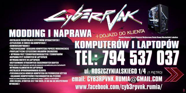 CYB3RPVNK Naprawa Komputerów i Laptopów Rumia/Gdynia/Sopot DOJAZD !