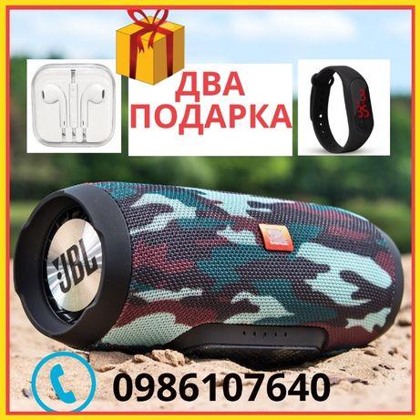 ДВА ПОДАРКА! Портативная Bluetooth колонка JBL CHARGE 2+ 3+ c USB, FM