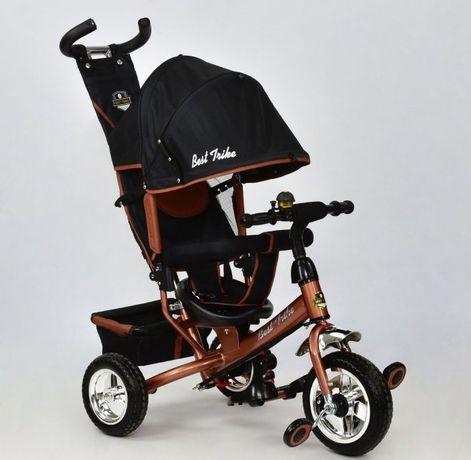 Оригинал! Трёхколёсный велосипед детский с ручкой, велосипед коляска