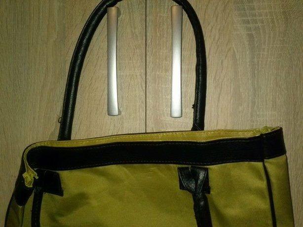 torebka torba zielono czarna