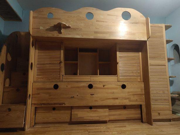 Внимание !!! 4 в 1 двухъярусная кровать, стол, шкаф, тумбочка