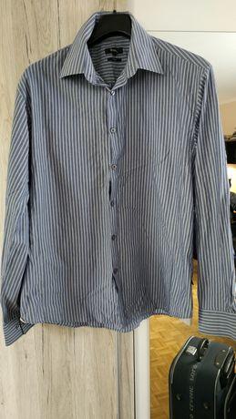 Koszula męska w paski XL regular PARK idealny stan