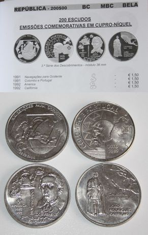 Moedas comemorativas escudo, vários conjuntos