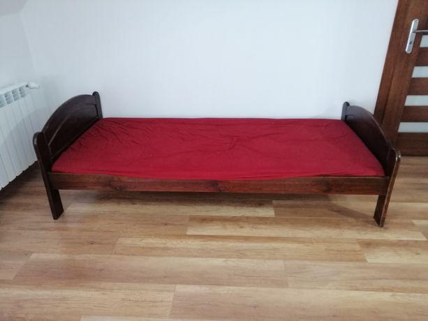 Łóżko 90/210 drzewiane z materacem Malo UŻYWANE . STAN BARDZO DOBRY