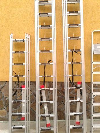 Драбина,стремянка,лестница,алюминиевая 7,33 м 3x11 INTERTOOL LT-0311