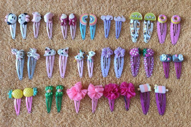 Spinki, gumki,bransoletki,wisiorki 63szt./Barbie,jednorożce, zwierzęta