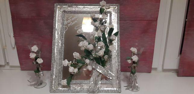 Свадебные аксессуары Азербайджана зеркало, свечи