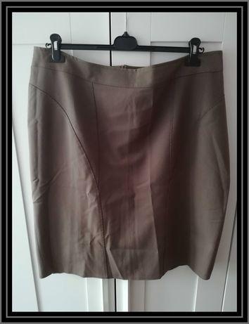 Szara brązowa spódnica 52