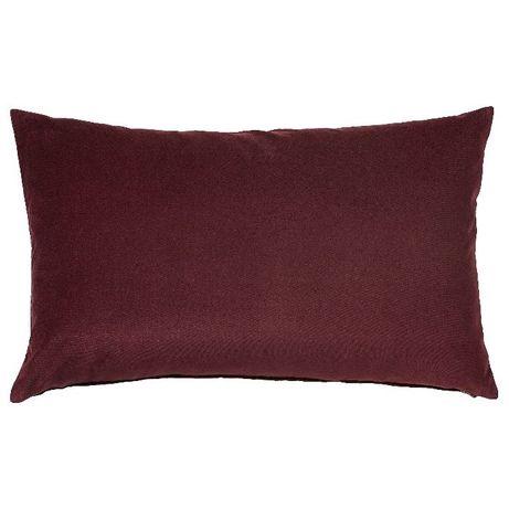 Fronha de almofada rectangular em veludo