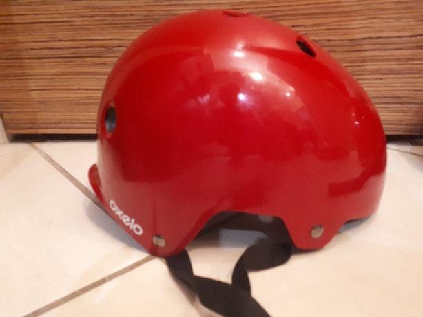 kaski czerwone na rolki, rower itd
