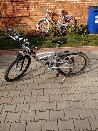 """Rower młodzieżowy 24"""" cyco z Niemiec, do lekkich poprawek, polecam"""