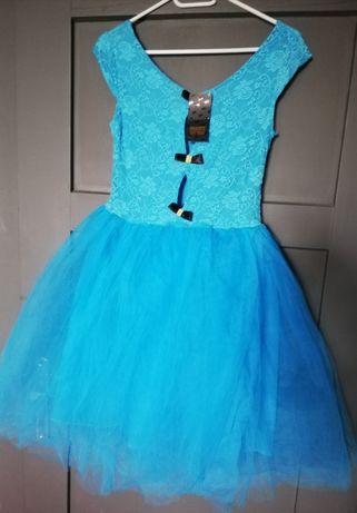 Śliczna niebieska sukienka M