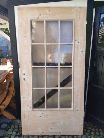 Drzwi drewniane dekoracyjne retro vintage 100 cm