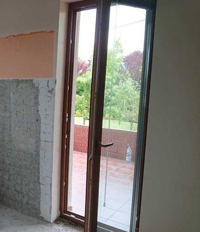 Drzwi tarasowe, 80x230 cm, kolor: dąb złoty, prawe