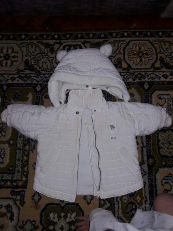Зимняя куртка 2-4 месяца