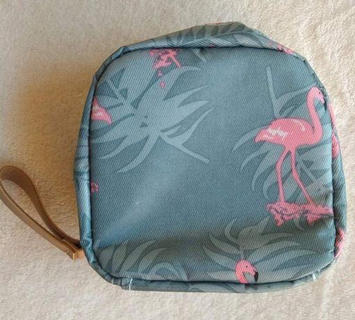 Bolsa com Flamingos - Para Batons, ou outros objectos - NOVA