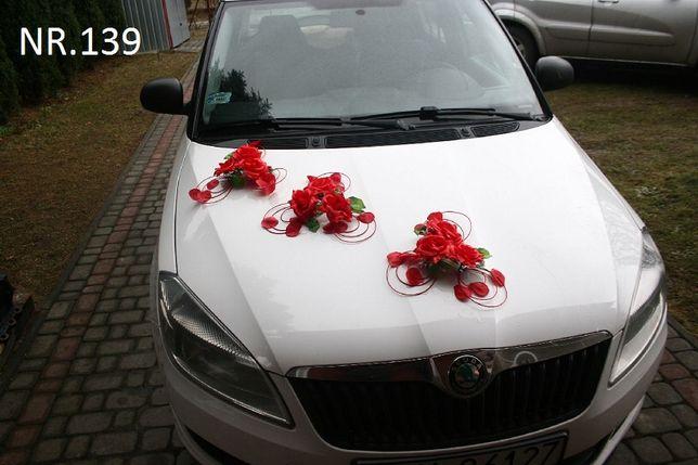 Dekoracja na samochód/ozdoba/czerwona/kolory/na przyssawkach