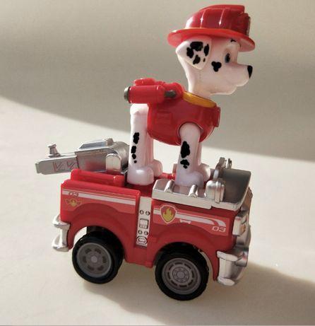 Klocki wóz strażacki Psi Patrol jak lego Marshall