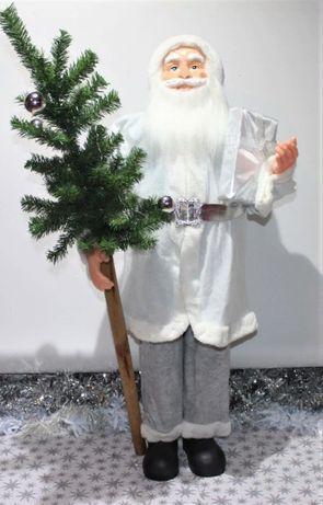Кукла, фигура, декор Большой Дед Мороз Санта Клаус с елкой, 110 см.