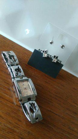 Zestaw biżuterii kolczyki, bransoletka itd
