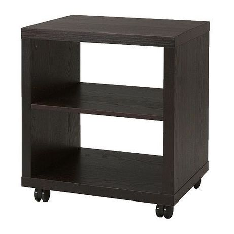 IKEA mesa cabeceira apoio impressora rodas prateleira wengé CORRAS