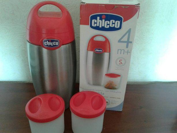 Термос для детского питания Chicco Теплая еда, нержавеющий