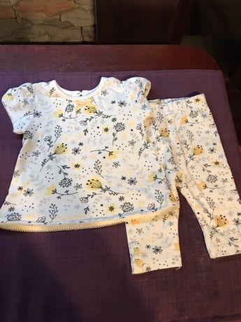 Komplet niemowlęcy george roz 56 legi/ leginsy/ bluzka