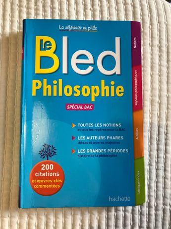 Livro escolar BLED filosofia francesa