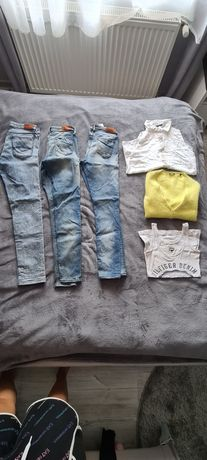 Jeansy tommy hilfiger 28/30 27/32 top guess sweter Marc o'polo