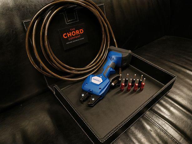Chord Ohmic Silver wtyki banan zaciskane konfekcja kabli Trans Audio