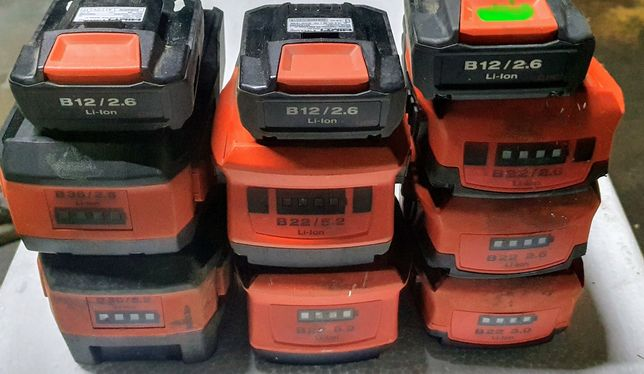 Hilti B22 1.6 2.6 3.0 5.2 8.0 B36 6.0 3.9 9.0 baterie uszkodzone