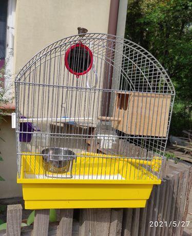 Klatka dla ptaków żółta