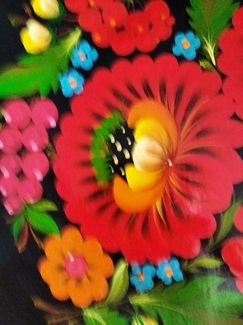 Сувенир тарелка декоративная панно картина Петриковская роспись СССР