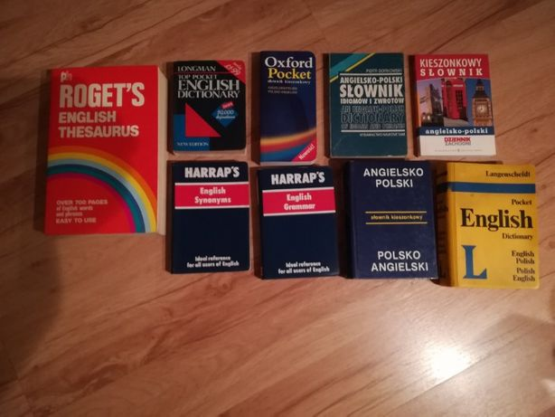 sprzedam zestaw używanych słowników angielskich - stan bardzo dobry
