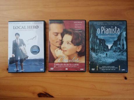 """Filmes """"O pianista"""", """"Chocolate"""" e """"Local Hero"""" - PORTES GRÁTIS"""