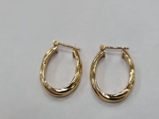 Piękne złote kolczyki damskie/ 585/ 2.05 gram/ Dmuchane/ sklep Gdynia
