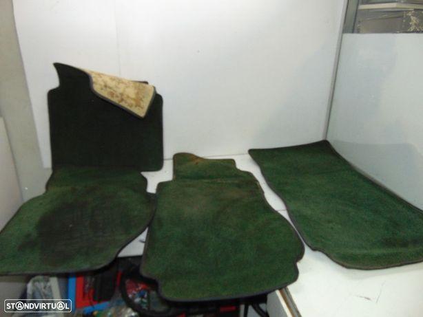 mercedes w123 jogo de tapetes originais verdes