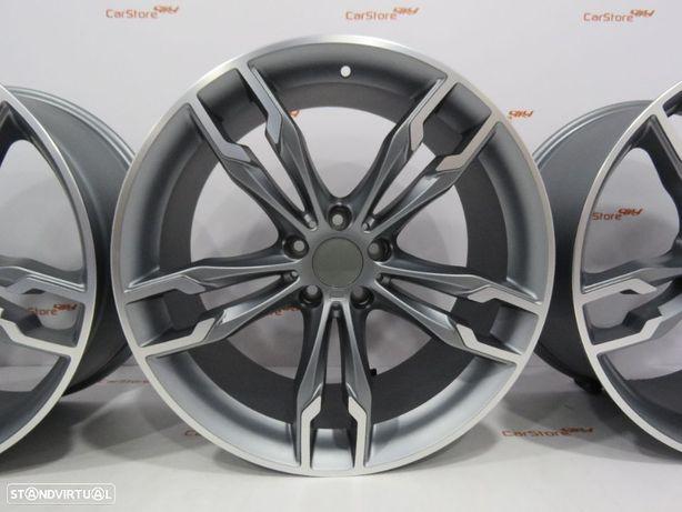 Jantes Look Bmw Style668M 19 x 8.5 et 30 + 9.5 et 38 5x112 Antracite + polidas