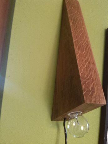 Lampa-kinkiet debowa