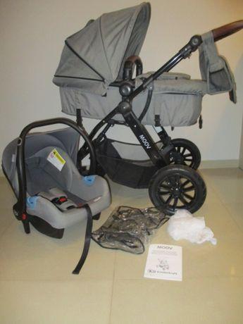 Wózek wielofunkcyjny 2w1 Kinderkraft Moov szary