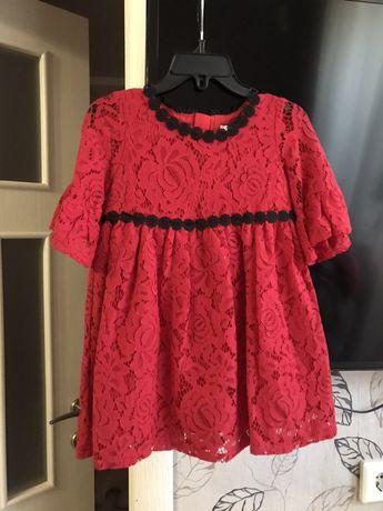 Шикарное дизайнерское платье на 2-3 года оригинал сша