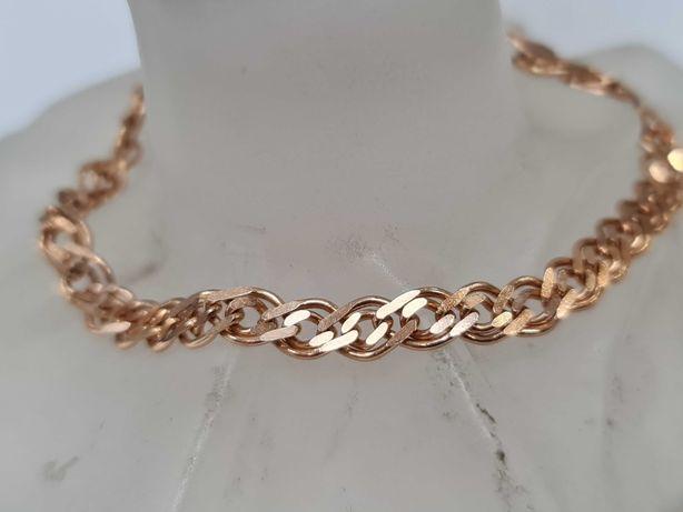 Klasyczna, mocna złota bransoletka/ 585/ 10.81 gram/ 21cm/ Midas
